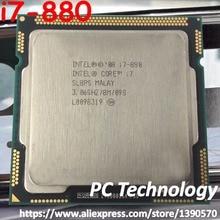 Origina Intel Core i7 880 CPU 3.06GHz 8M Quad Core LGA1156 45nm 95W i7 880 โปรเซสเซอร์เดสก์ท็อป CPU จัดส่งฟรี