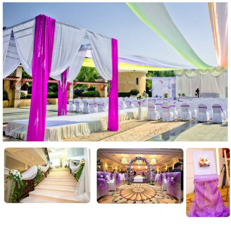 04810m Tulle Fabric Wedding Decoration Tulle Organza Element Table