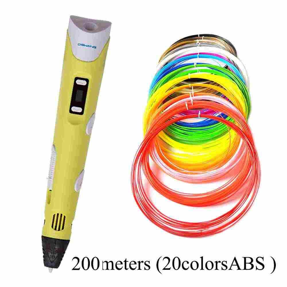 (Ru estoque rápido) dewang 3d impressão caneta 3d desenho caneta 300m abs/pla filamento 3d impressora caneta miúdo aniversário presente 3d caneta para a escola