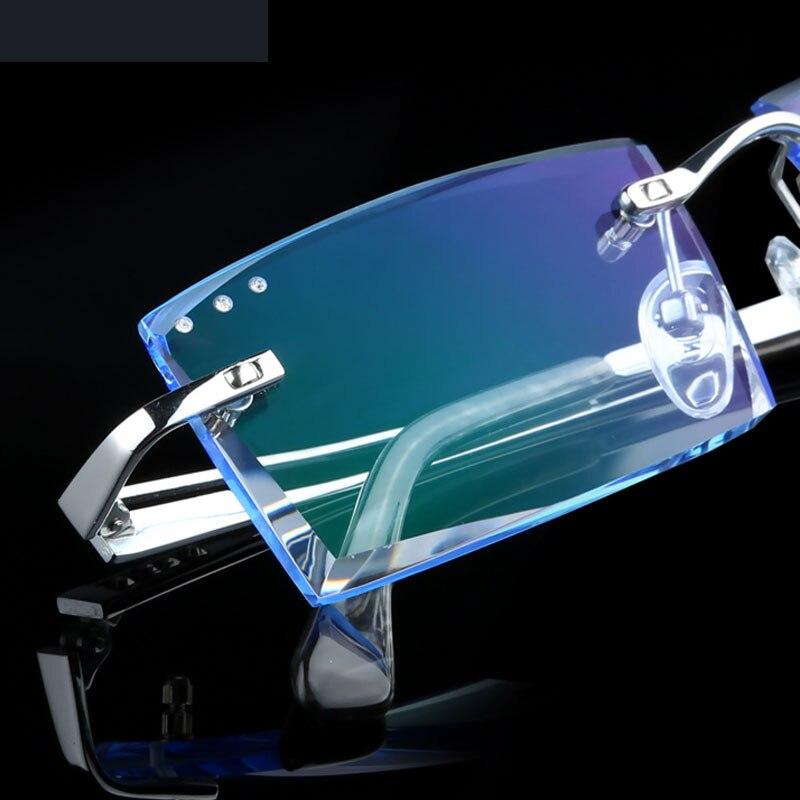 Treu Männer Randlose Brille Komplette Optische Gläser Myopie Brillen Mode Herren Business Hyperopie Yj25 Modische Und Attraktive Pakete