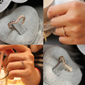 Charme jóias bonito em forma brilhante de strass embutidos de cristal anel RING-0050