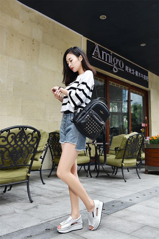 2019 Fashion Summer Women Sandals Wedges Sandals Ladies Open Toe Round Toe Zipper Silver White Platform Sandals Shoes (1)