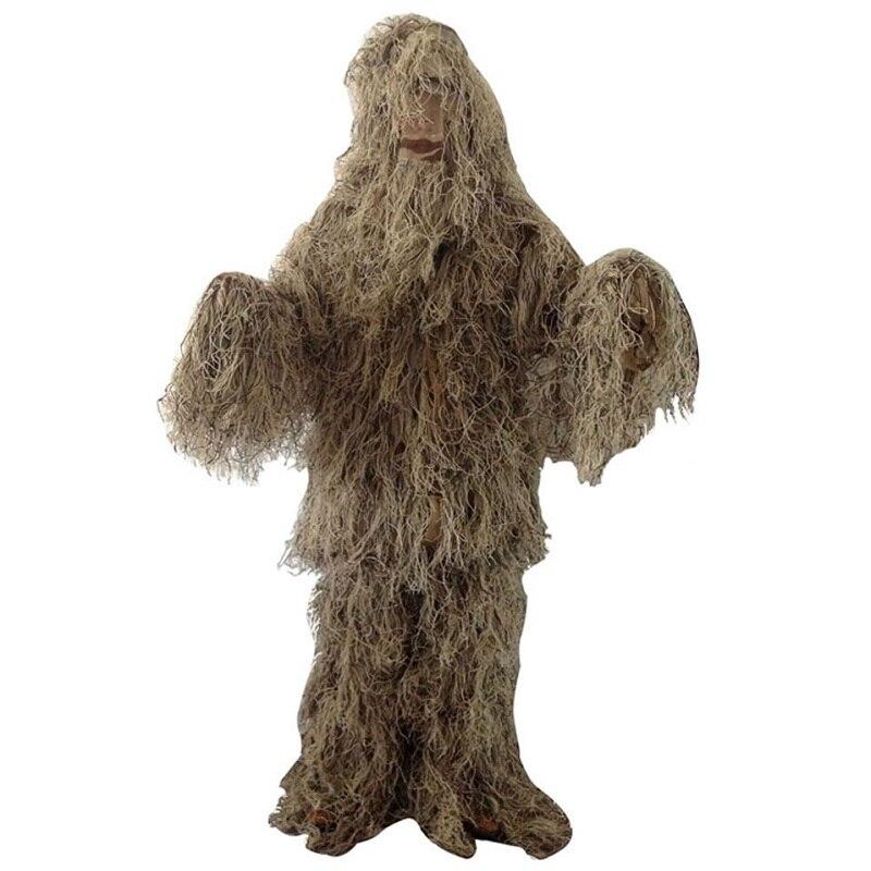Extérieur Jungle désert neige Camouflage chasse vêtements Ghillie costume pêche chasseur photographie costume militaire Airsoft costume