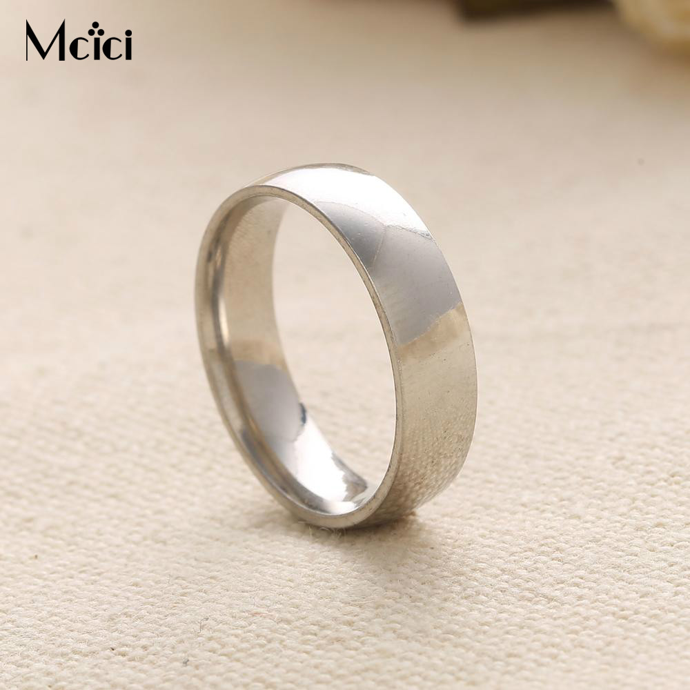 2 Colors Top Quality Silver Ring for Men Real Gold Plated Wedding Jewelry Band Rings for Women Кольцо