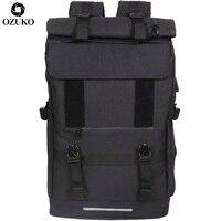 OZUKO Новый 40L большой емкости Дорожные рюкзаки для мужчин USB зарядка ноутбук рюкзак для подростков многофункциональная дорожная Мужская школ...