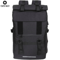 OZUKO New 40L Large Capacity Travel Backpacks Men USB Charge Laptop Backpack For Teenagers Multifunction Travel Male School Bag