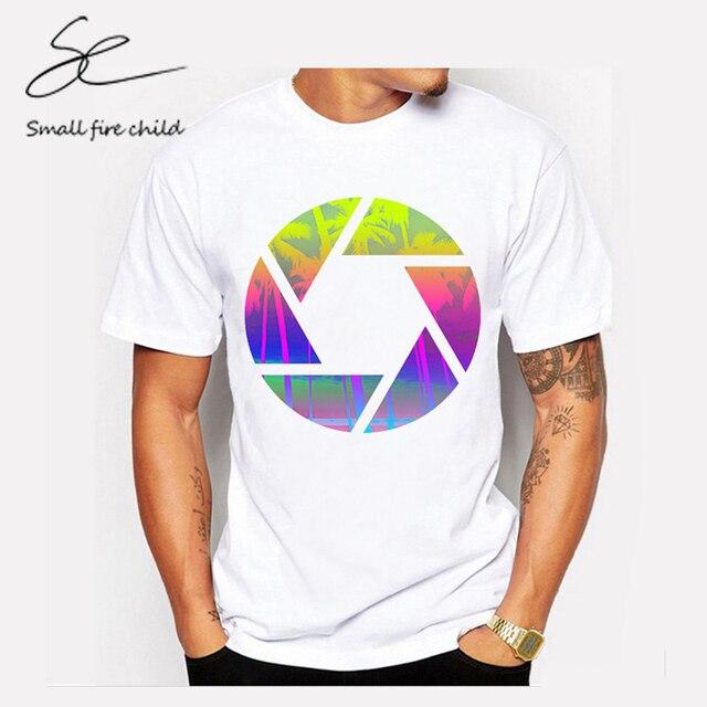 1012a40ff2dd 2017 Newest Summer Fashion Geometric Sunset beach Design T Shirt Men s Cool  Design High Quality Tops Custom Hipster Tees