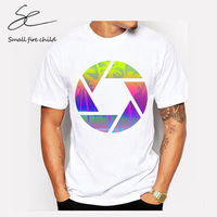 2017 Newest Summer Fashion Geometric Sunset Beach Design T Shirt Men S Cool Design High Quality