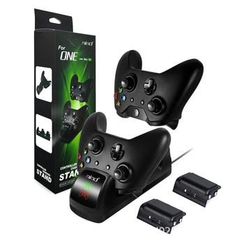 Estación de carga de base Dual + 2 baterías recargables para mando Xbox One/S/X