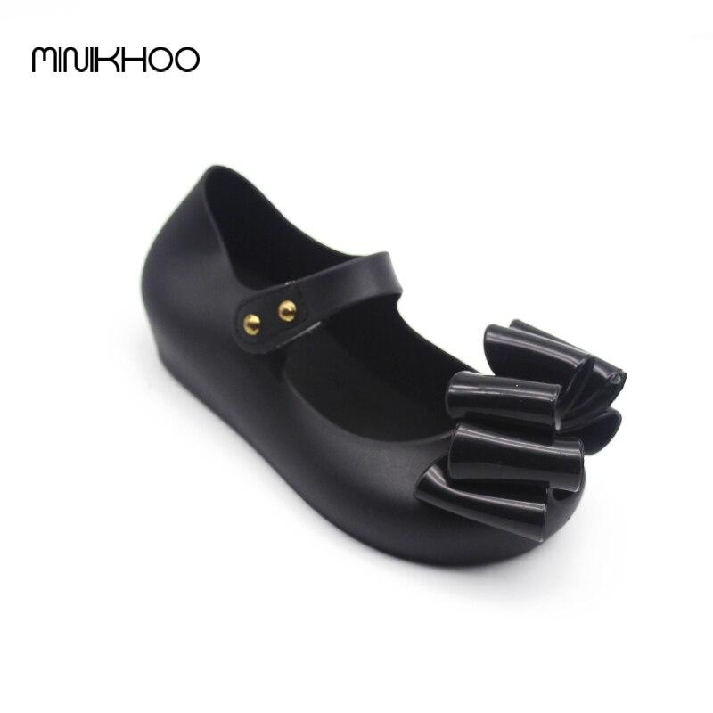 Mini Melissa Large Bow Korea Jelly Shoes Bow Flat Sandals Plastic Sandals Girls Melissa Sandals Sapato