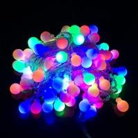 Holiday Lighting 10M 100LEDs Fairy LED Ball Light String AC110V 220V Waterproof Garland Home Patry Decoration