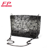 Flower Poetry Brand Women Message Bags Flap Serpentine Chain Shoulder Bag High Quality PU Small Sequined