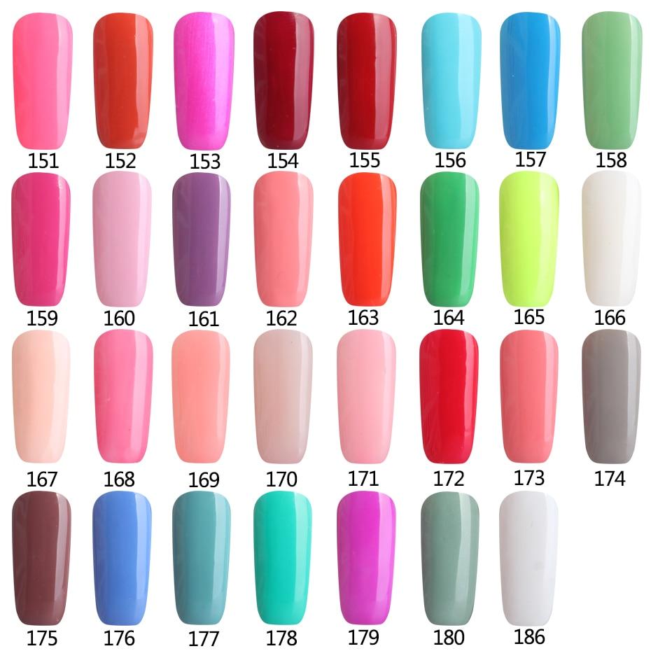 Colors 151-180 Soak Off UV Gel Nail Polish Wholesale Price