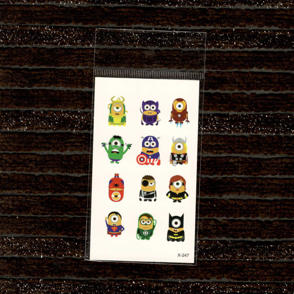 น่ารักการ์ตูนสี TATTOO สติกเกอร์น้ำถ่ายโอน Fake TATTOO Disposable กันน้ำชั่วคราวสติกเกอร์เด็กเด็กเด็ก
