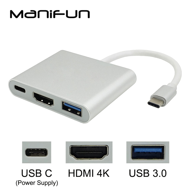 USB C HDMI адаптер usb type C к HDMI кабель USB C гнездовой HDMI 4 K USB-C Thunderbolt 3 концентратор для Apple MacBook Air 2018 MacBook Pro 13