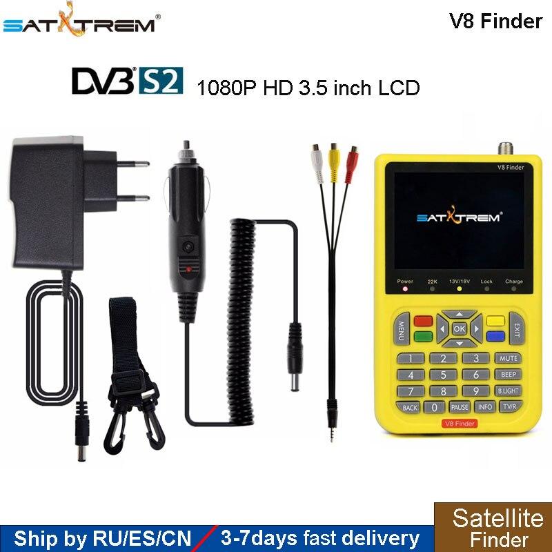 SATXTREM V8 Finder Satfinder DVB-S2 ale numérique Full HD 1080 P MPEG-4 haute définition 3.5 pouces écran LCD Sat finder récepteur tv