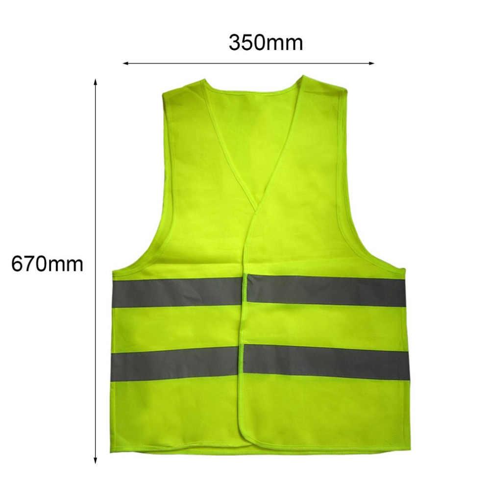 Chaleco fluorescente reflectante de alta visibilidad ropa de Seguridad al aire libre Chaleco de competición de carrera chaleco ventilado ligero
