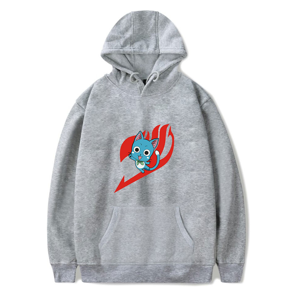 Buy New fashion temperament Sweatshirt fashion anime FAIRY TAIL printed hoodie men's and women's casual high quality gray hoodie for only 22.5 USD