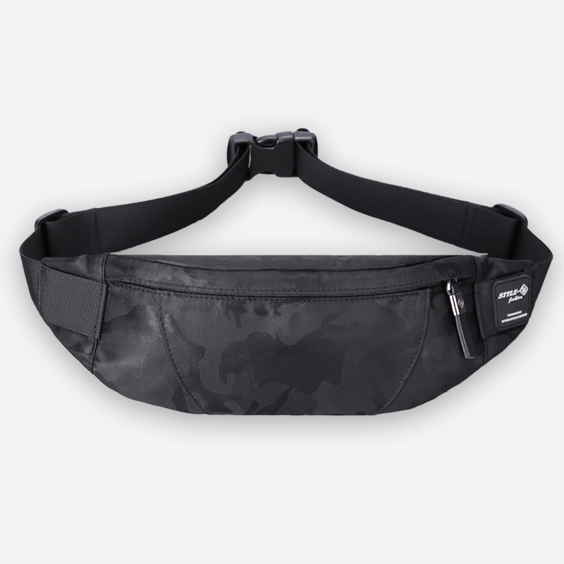 Hk Fanny Pack Black Waterproof Money Belt Bag Men Purse Teenager's Travel Wallet Belt Male Waist Bags Cigarette Case for Phone
