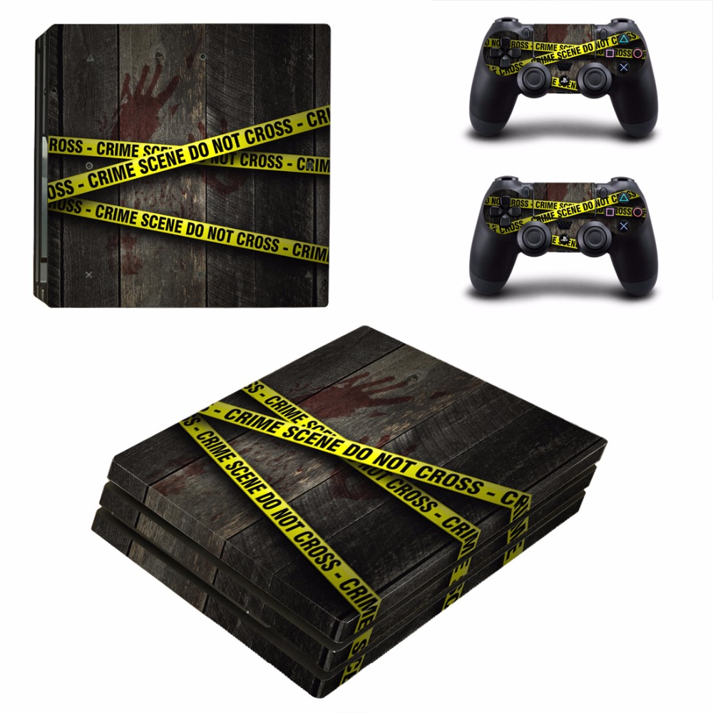 Crime Scene Do Not Cross PS4 Pro Skin Sticker Decal For Sony PS4 PlayStation 4 Pro Console and Controllers PS4 Pro Skins Sticker