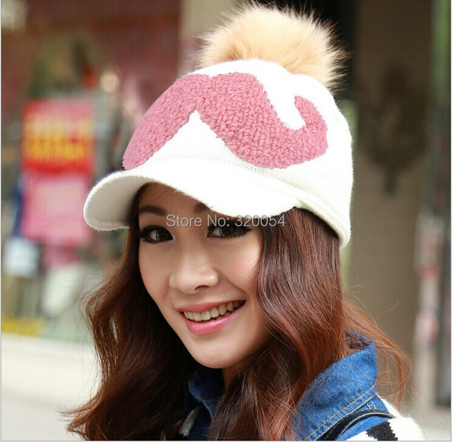 Sell at a loss 1 PCS 2014 winter women's fashion knitting warm hat Skullies Beanies Add wool letters caps multicolor