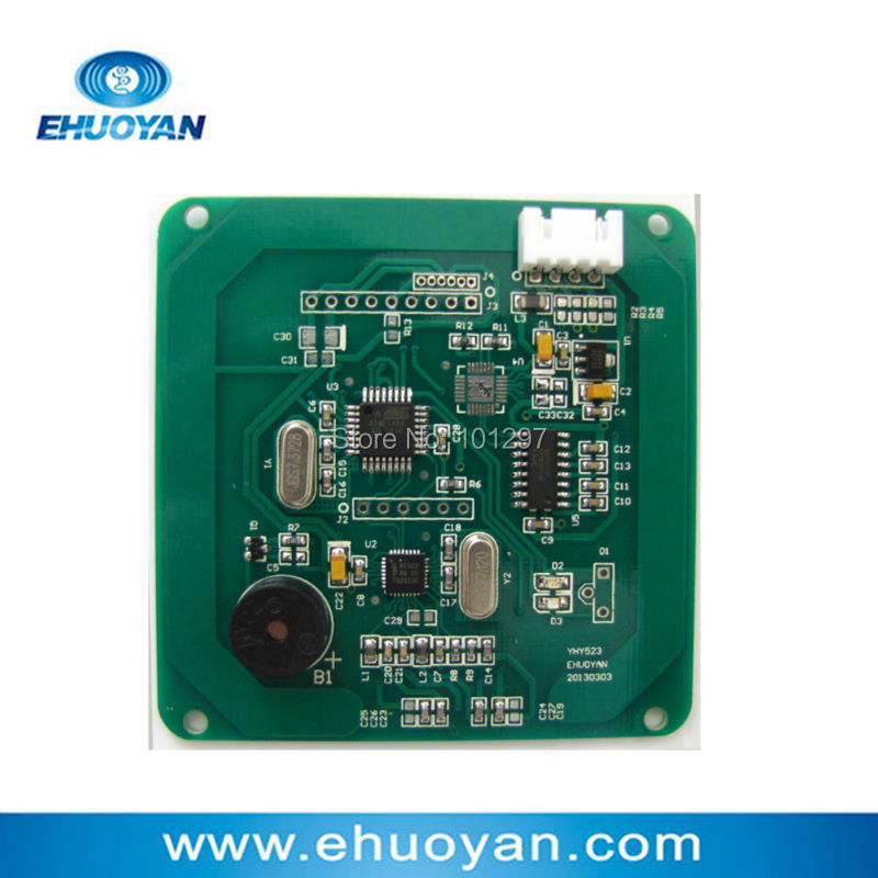 RFID 13.56Mhz ISO 14443A  Reader Writer Module RS232 5.0V YHY523R +SDK+ 3 Tags 13 56mhz nfc iso 14443a 15693 rfid writer usb yhy638fu sdk software ereader v8 3 6tags