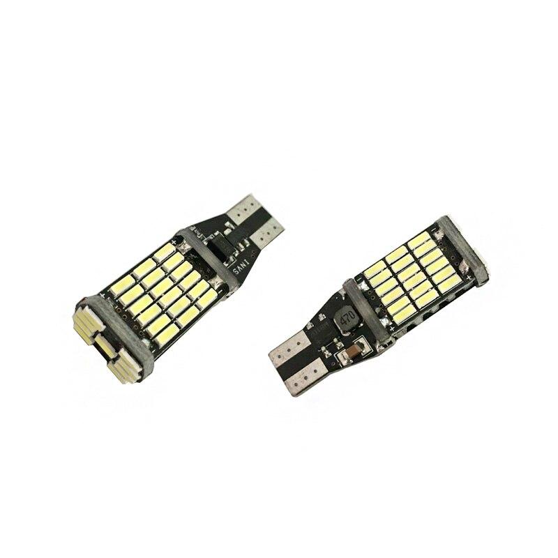 2pcs YLR led W16W LED CANBUS T15 45led 4014smd Chip LED High Power Light Bulbs Compatibl ...