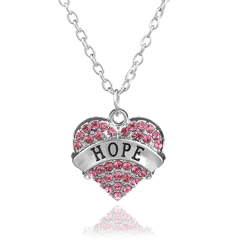 Fine Inspirational Jewelry Hope Lettering Multicolor Rhinestone