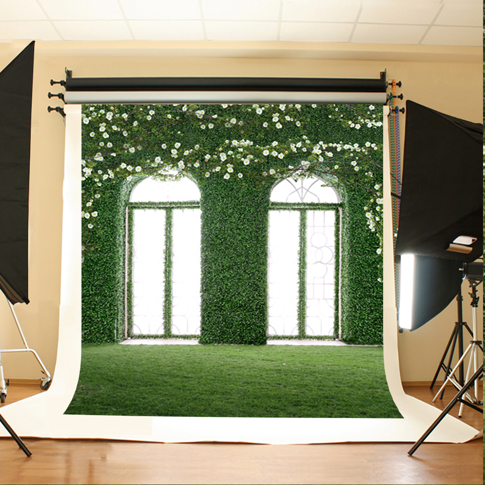 Wedding Photography Backdrops White Flowers Sunshine Windows Party Photo Backdrops Green Meadow Backgrounds for Photo Studio 200 300cm backgrounds for photo studio photography backdrops white green the open air terrace flowers tree for wedding
