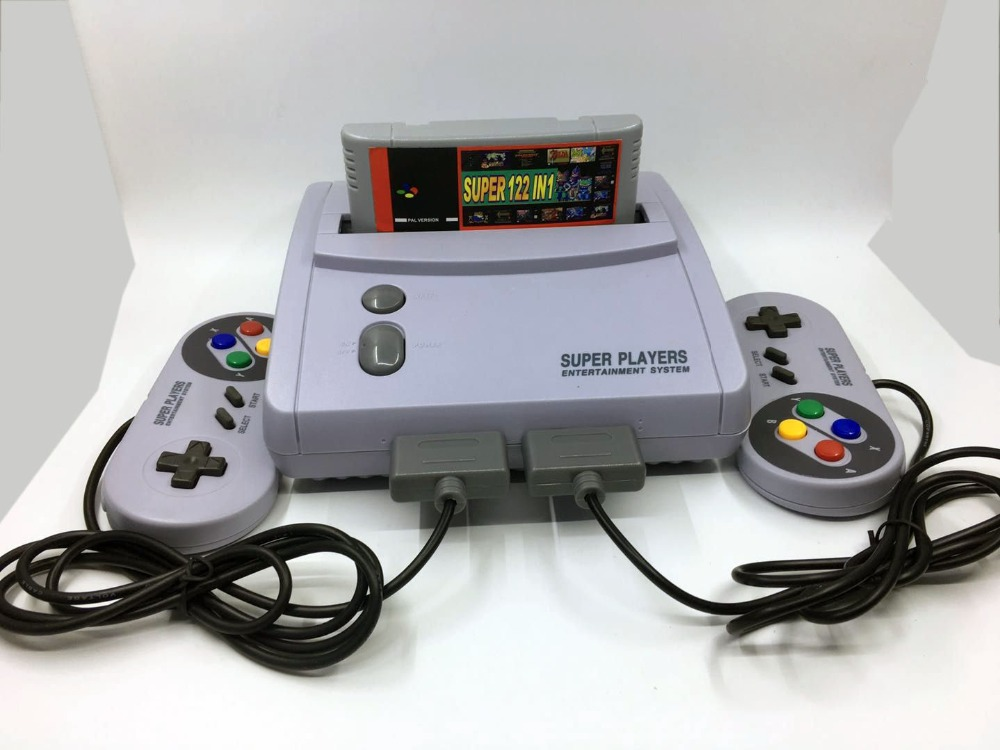 TV Video Game PAL Console for Snes 16 Bit Games with 100+22  In 1 SNES Game Cartridge (can save)