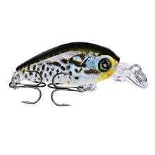 1Pcs 4.7cm 4g Hard Fishing Lure Crank Bait Diving Depth 0.3-0.6m Lake River Wobblers Carp Baits