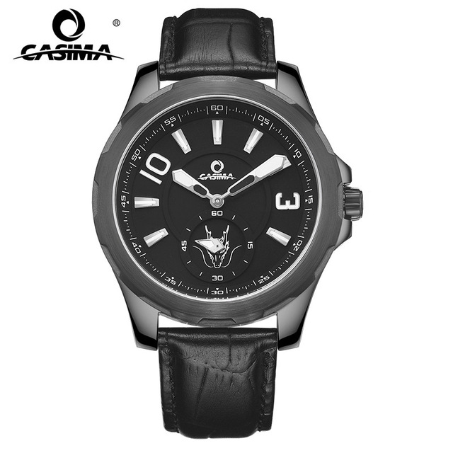 New Luxury Brand CASIMA Watches Men Montre Homme Fashion Casual Sport Quartz Watch Leather Strap Male Clock Reloj hombre 8312 jedir reloj hombre army quartz watch men brand luxury black leather mens watches fashion casual sport male clock men wristwatch