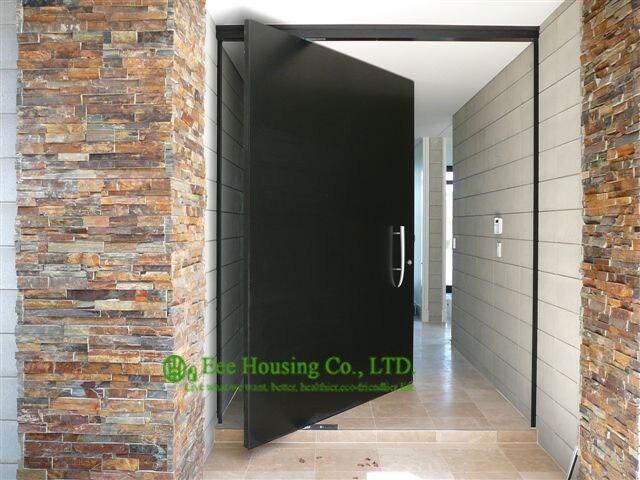 Solid mahonie hout entry pivot deur belangrijkste deur ontwerpen