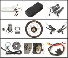Бесплатный налог в ЕС 36 В или 48 в электрический велосипед 1500 Вт конверсионные наборы 26 «27,5 28» заднее колесо для электровелосипеда набор с бесщеточным двигателем с LCD6