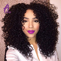 8A Brazilian kinky Curly With Closure 3Bundles Mink Brazilian Kinky Curly Hair With Closure Kinky Curly Virgin Hair With Closure