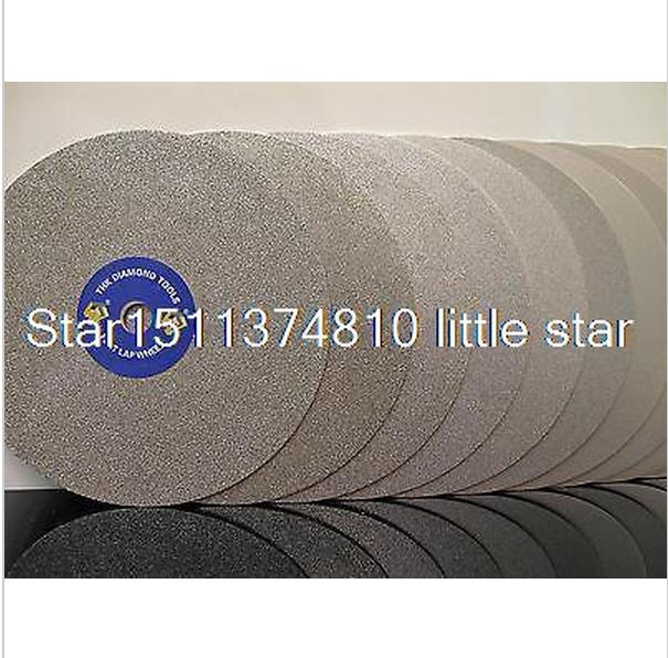 Grit 240 Diamond coated 6 inch Flat Lap wheel Jewelry grinding polishing disc cnbtr silver snagging cutting electroplate diamond bowl shape grinding wheel grit 80