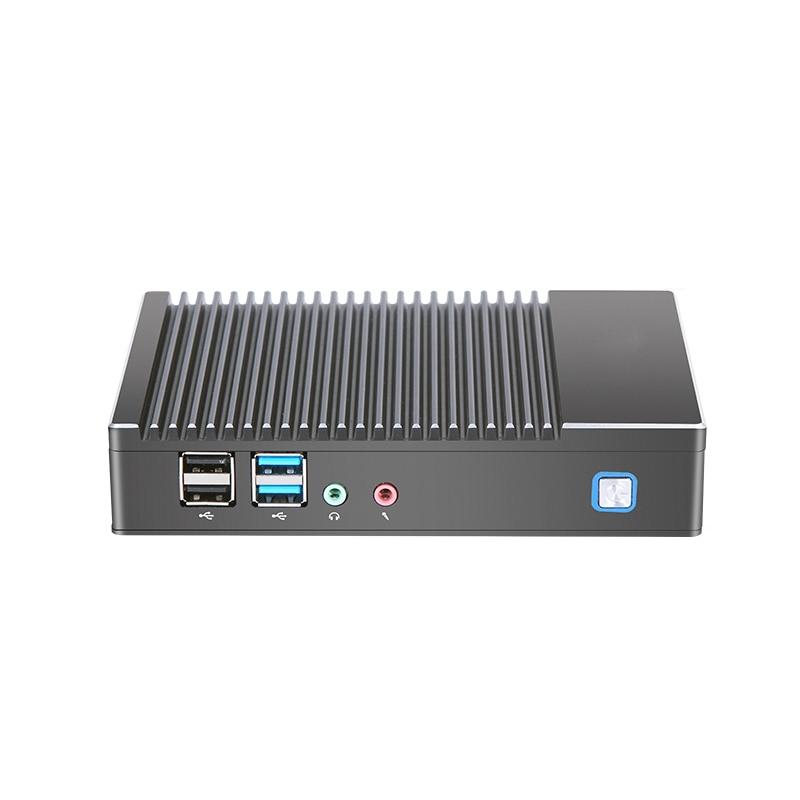 Mini PC Fabriek groothandel Fanless AMD A6 1450 Quad core Windows Win10 Linux Gaming Computer WIFI HDMI HTPC DDR3L desktop Minipc - 2