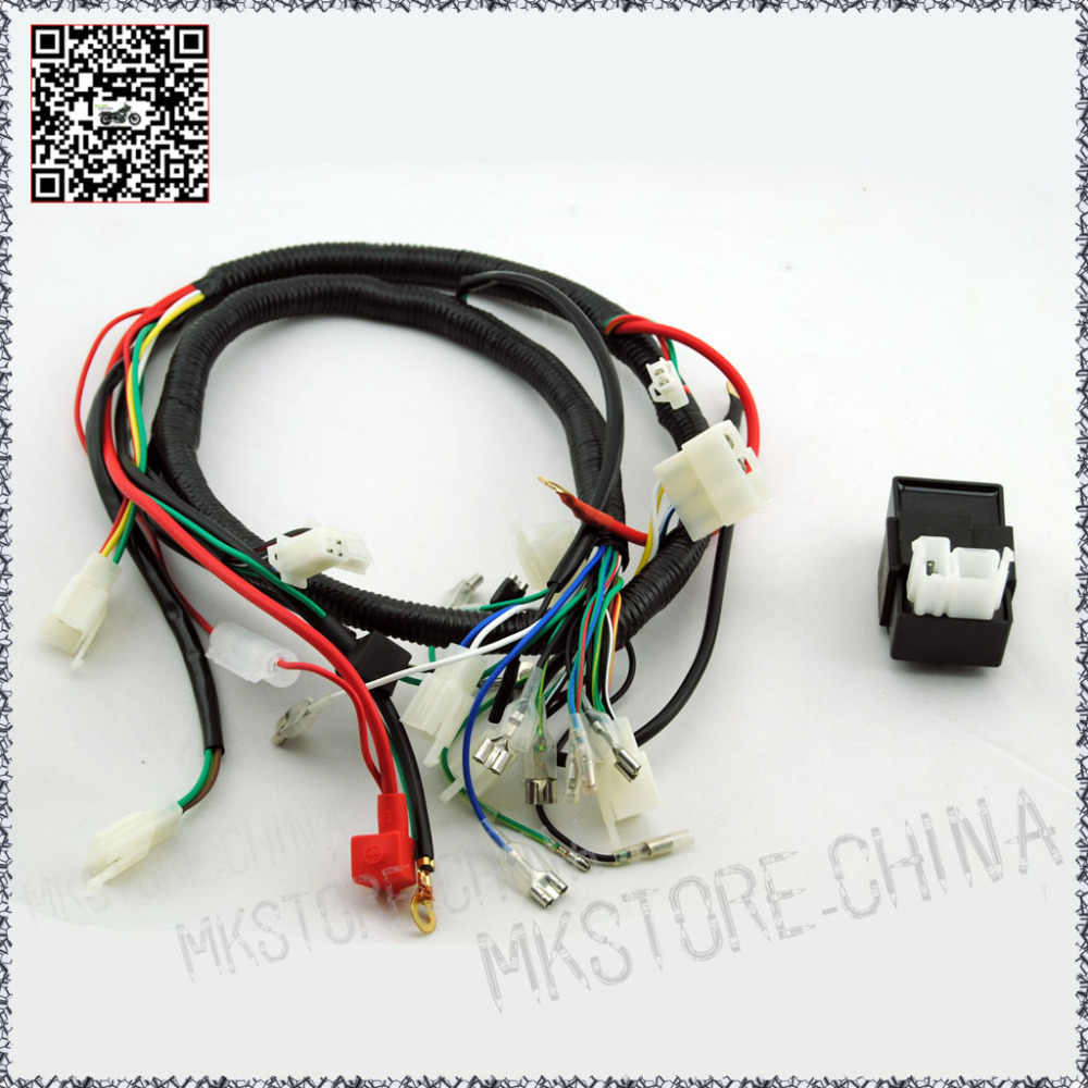 hight resolution of 250cc cdi quad wiring harness 200 250cc chinese electric start for loncin zongshen ducar lifan
