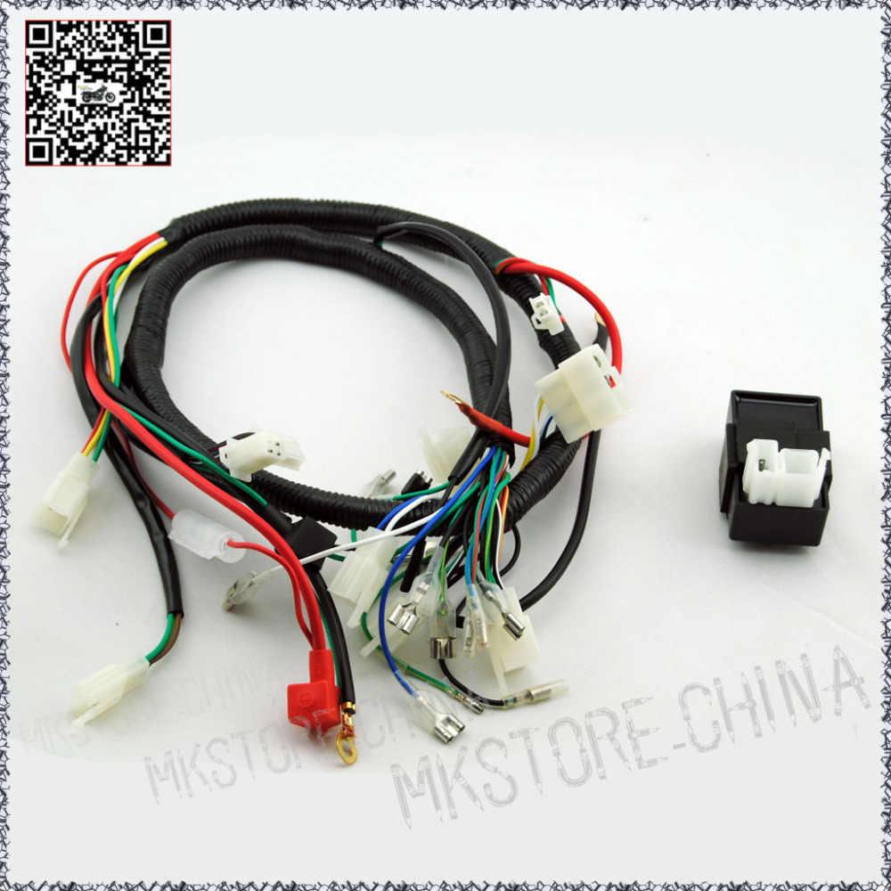 medium resolution of 250cc cdi quad wiring harness 200 250cc chinese electric start for loncin zongshen ducar lifan