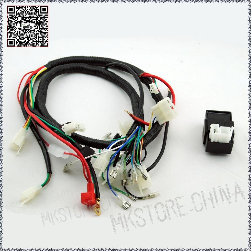 hight resolution of 250cc cdi quad wiring harness 200 250cc chinese electric start for loncin zongshen ducar lifan free shipping