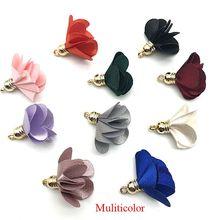 10pcs/bulk Vintage Cloth Flower Tassels Charms for Jewelry Making  Earrimgs Pompoms Pendants