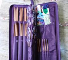 Sewing Needles Crochet Hooks Set Hand Tool PU bag Aluminum Knitting Needle Kits Straight Ring Needlework 75