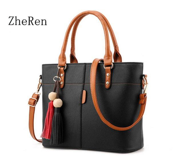 Zhe Ren Brand fashion Shoulder Bag High Quality PU Leather Handbags Women ladies handbags Designer handbags Luxury SAC 2017