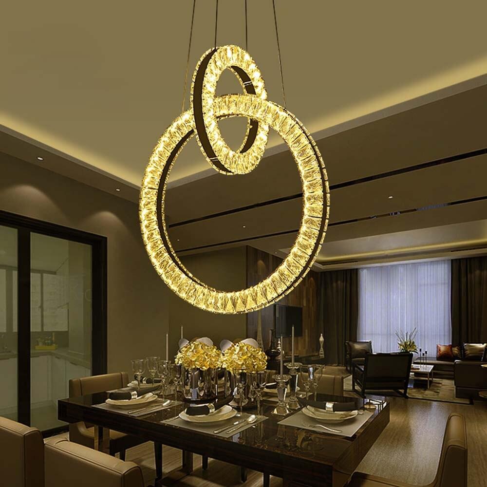 Nordic Modern Luxury Led K9 Crystal Chandelier Lighting ...
