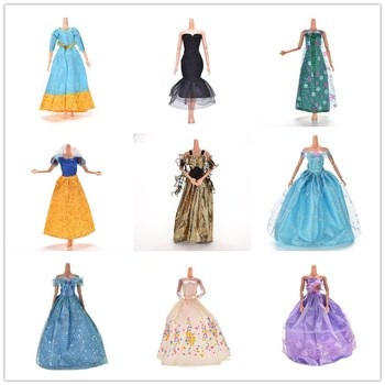 leadingstar 2017 new wedding bridal dress princess gown evening party dress doll clothes outfit for barbie doll for kids gift 11.11 Sale Princess Doll Dress Noble Party Gown Fashion Design Outfit Best Gift For  Doll For Girl' Doll Accessories