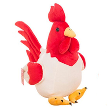 Hot New cute chicken plush toy cock plush toy handmade pillow 25cm zodiac chicken Stuffed animals toys doll child gifts