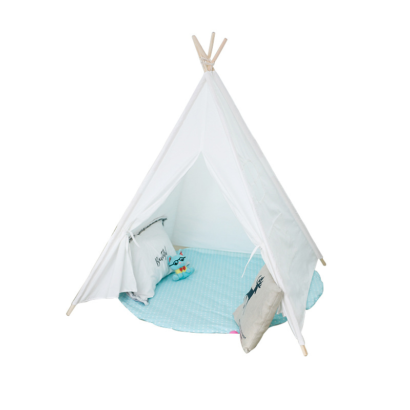 Children's Tent White Indoor Game Room Baby Toys Parent-child Family Climbing Reading Corner Triangle Playhouse for Kids