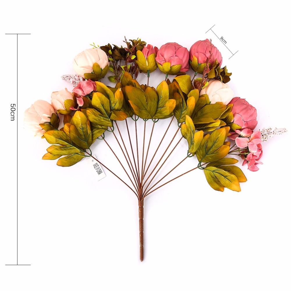 decoração artificiales coroa Silk 1