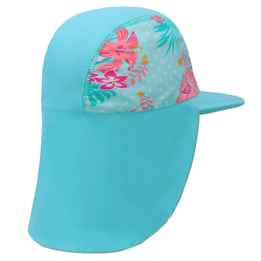 BAOHULU Cute Cyan Print Swimming Cap Children Summer Baby Sun Protection Swim Hats Waterproof for Girls Kids Outdoor Sports Hat Lahore