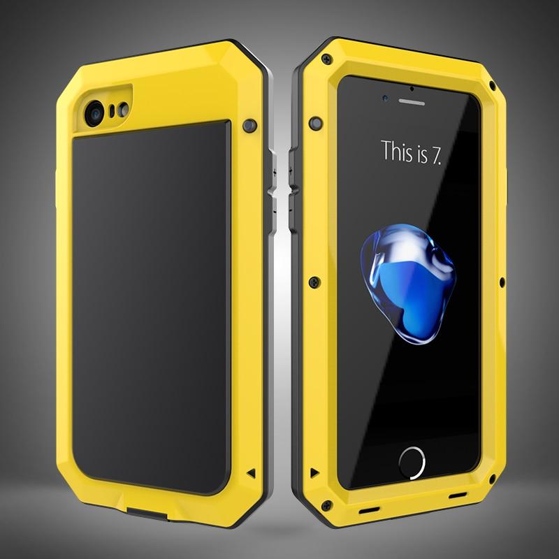 HTB1fiZ8aWAoBKNjSZSyq6yHAVXaJ Heavy Duty Protection Doom armor Metal Aluminum phone Case for iPhone 11 Pro Max XR XS MAX 6 6S 7 8 Plus X 5S 5 Shockproof Cover